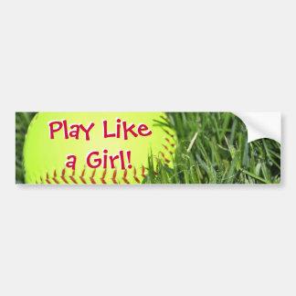El juego tiene gusto de un chica pegatina de parachoque