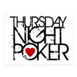 El jueves por la noche póker postales