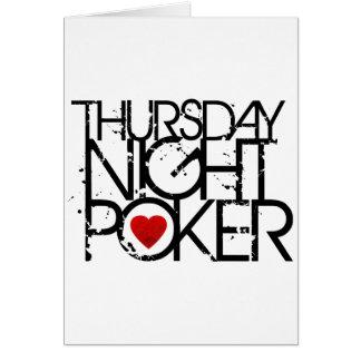 El jueves por la noche póker tarjetas