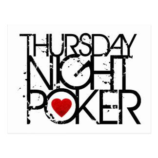 El jueves por la noche póker postal