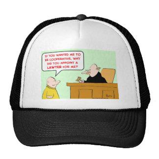 el juez designa a la cooperativa del abogado gorros bordados