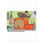 El juez habla al perro en soporte de testigo postal