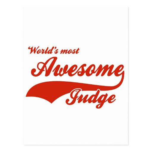 El juez más impresionante del mundo tarjeta postal