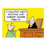 el juez nadie le juró adentro tarjeta postal