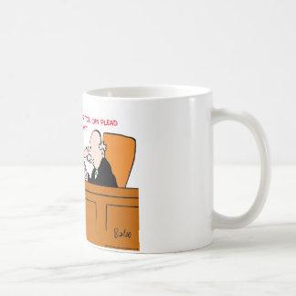 el juez no aboga por no culpable ningún problema taza de café