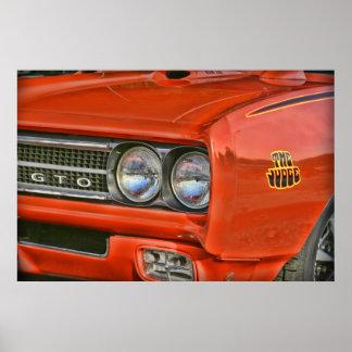 El juez Pontiac 1969 GTO Póster