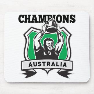 El jugador Australia del rugbi defiende el escudo Alfombrilla De Ratones