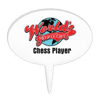 El jugador de ajedrez más grande de los mundos figuras de tarta