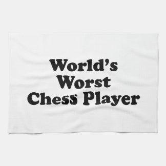 El jugador de ajedrez peor del mundo toalla de mano