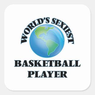 El jugador de básquet más atractivo del mundo pegatina cuadrada