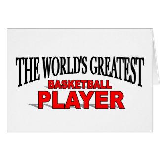 El jugador de básquet más grande del mundo tarjeta de felicitación