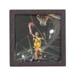 El jugador de básquet que salta en aire cajas de regalo de calidad