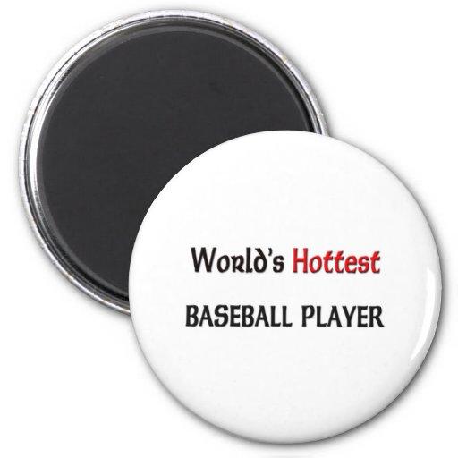 El jugador de béisbol más caliente de los mundos imán de nevera