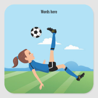 El jugador de fútbol del chica pegatina del