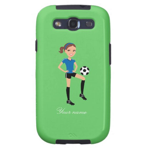 El jugador de fútbol del chica personalizado galaxy s3 coberturas