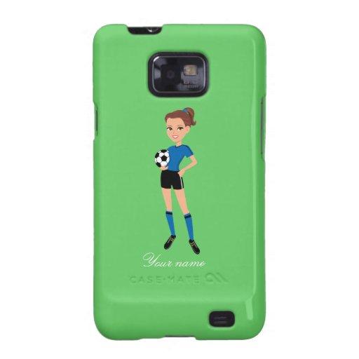 El jugador de fútbol del chica personalizado samsung galaxy SII funda