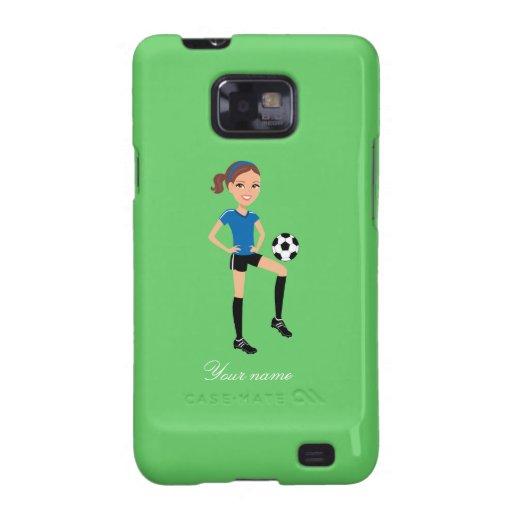 El jugador de fútbol del chica personalizado samsung galaxy s2 funda