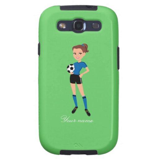El jugador de fútbol del chica personalizado galaxy s3 cobertura