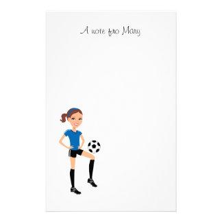 El jugador de fútbol del chica personalizado  papeleria