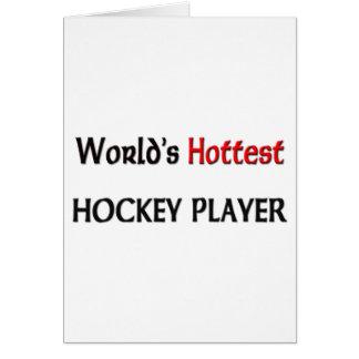 El jugador de hockey más caliente de los mundos tarjetón