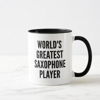 El jugador de saxofón más grande de los mundos taza