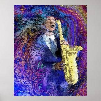 El jugador de saxofón posters