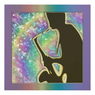 El jugador de saxofón psicodélico del ~ del músico cuadro