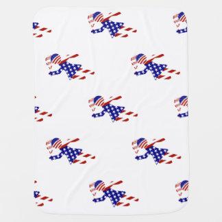 El jugador de tenis de las mujeres patrióticas de mantas de bebé