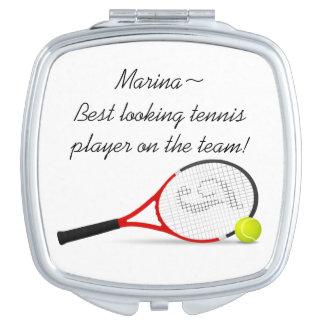 El jugador de tenis más apuesto espejo para el bolso