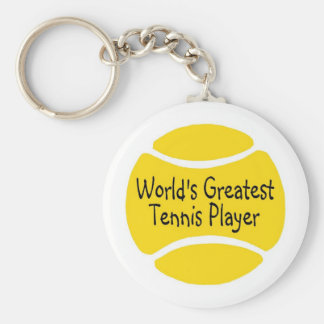 El jugador de tenis más grande de los mundos llaveros personalizados