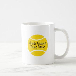 El jugador de tenis más grande de los mundos taza