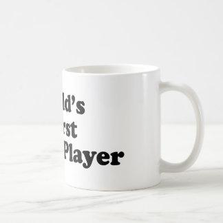El jugador de tenis peor del mundo taza básica blanca