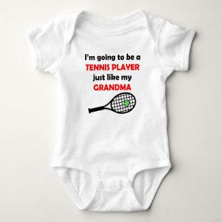 El jugador de tenis tiene gusto de mi abuela body para bebé