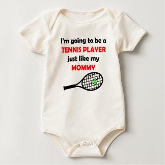 El jugador de tenis tiene gusto de mi mamá body para bebé