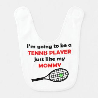 El jugador de tenis tiene gusto de mi mamá babero