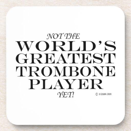 El jugador de Trombone más grande todavía Posavasos De Bebidas