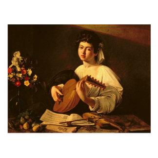 El jugador del laúd, c.1595 postal