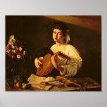 El jugador del laúd, c.1595 póster
