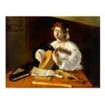 El jugador del laúd - Caravaggio Postal