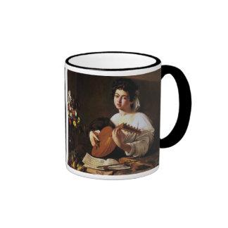 El jugador del laúd, Caravaggio Taza De Café