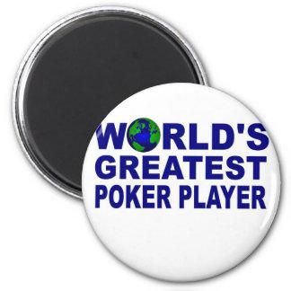El jugador del póker más grande del mundo imanes