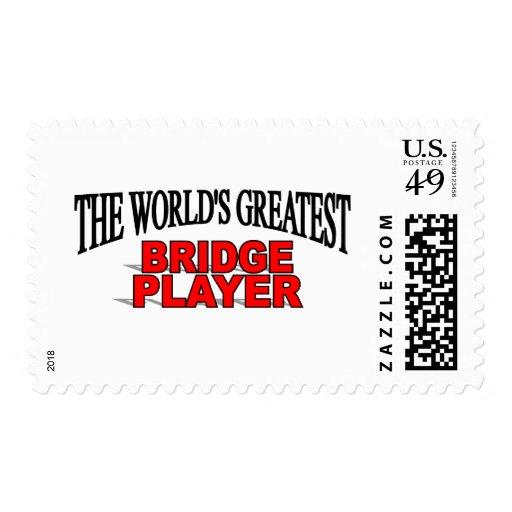 El jugador del puente más grande del mundo timbres postales