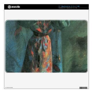 El jugador del violín de Lovis Corinto Calcomanías Para El MacBook