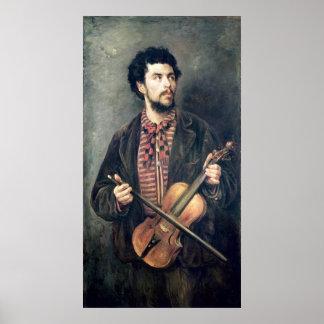 El jugador del violín póster