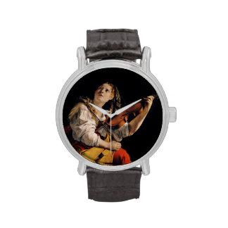 El jugador del violín relojes