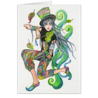 El jugador del violín tarjeta pequeña