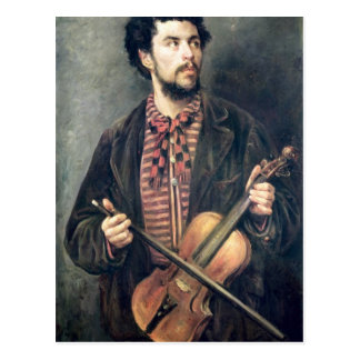 El jugador del violín postal