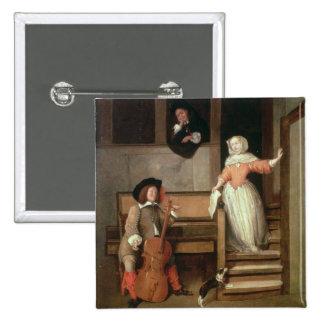 El jugador del violoncelo, c.1700 (aceite en lona) pins