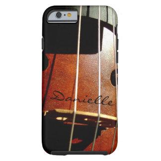 El jugador del violoncelo personalizó la caja del funda para iPhone 6 tough