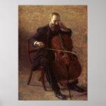 El jugador del violoncelo poster